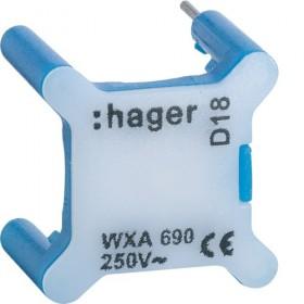 HAGER Voyant BLEU universels témoin ou signalisation 230V HAGER GALLERY WXA690 WXA690
