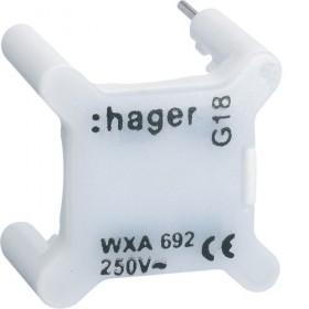 HAGER Voyant BLANC universels témoin ou signalisation 230V HAGER GALLERY WXA692 WXA692