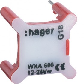 HAGER Voyant ROUGE universels témoin ou signalisation 12/24V HAGER GALLERY WXA696 WXA696