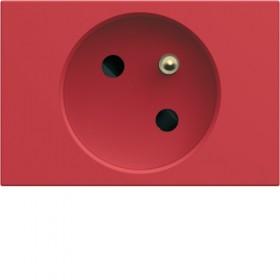 HAGER Prise de courant pour goulotte 2P+T 16A ROUGE HAGER GALLERY WXF421R WXF421R