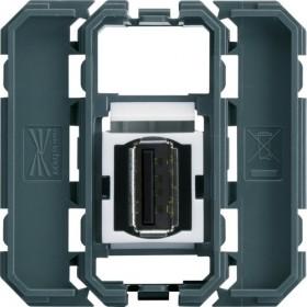 HAGER Prise USB 2.0 bornier à vis HAGER GALLERY WXF642 WXF642