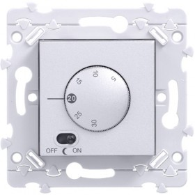 HAGER Thermostat d'ambiance Titane WE310T Essensya Hager WE310T