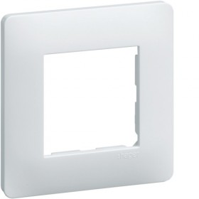 HAGER Plaque 1 Poste Blanc WE401 Essensya Hager WE401