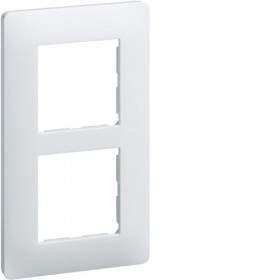 HAGER Plaque 2 Postes entraxe 57 mm Blanc WE406 Essensya Hager WE406
