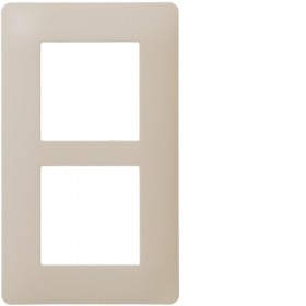 HAGER Plaque 2 Postes entraxe 57 mm Sisal WE436 Essensya Hager WE436