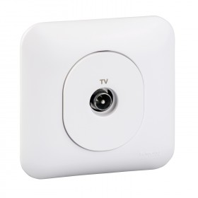 SCHNEIDER PRISE TV SIMPLE + PLAQUE S260405