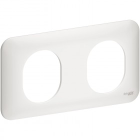 SCHNEIDER PLAQUE 2P HORIZONTAL 71MM S260704