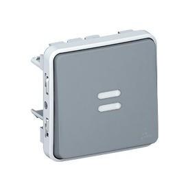 LEGRAND Poussoir no lumineux gris composable 069542