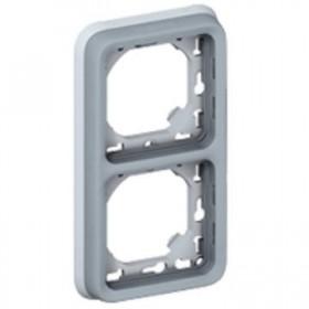 LEGRAND Plaque + support 2 postesv gris 069685