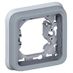 LEGRAND Plaque + support 1 poste gris 069681