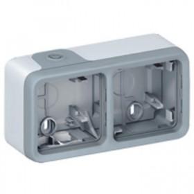 LEGRAND Boitier 2 postesh gris composable 069672
