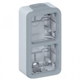 LEGRAND Boitier 2 postesv gris composable 069661
