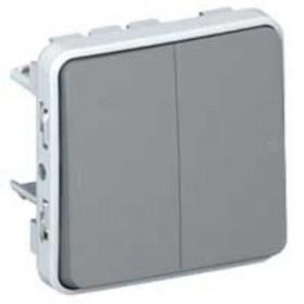 LEGRAND Double poussoir gris composable 069545
