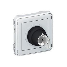 LEGRAND Interrupteur a cle 3 positions gris composable 069535
