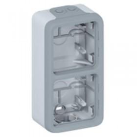 LEGRAND Boitier 2 postesv gris plexo compo 069954