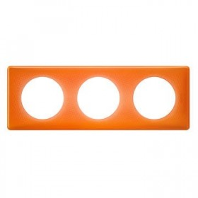 LEGRAND Plaque céliane 3 postes -finition 70's ( orange ) 066653 LEGRAND 066653