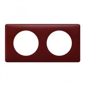 LEGRAND Plaque de finition 2 postes BORDEAUX 066752 LEGRAND 066752