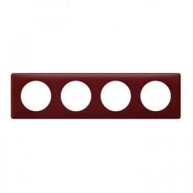 LEGRAND Plaque de finition 4 postes BORDEAUX 066754 LEGRAND 066754