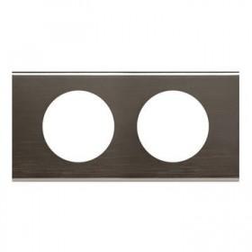 LEGRAND Plaque céliane matières 2 postes black nickel 069032 069032 LEGRAND 069032