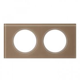 LEGRAND Plaque céliane - matières - 2 postes - verre moka 069462 LEGRAND 069462
