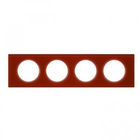 LEGRAND Plaque 4 Postes VERRE CARMIN 069474 LEGRAND 069474 LEGRAND 069474