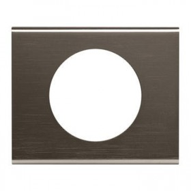 LEGRAND Plaque céliane matières 1 poste black nickel 0693031 069031 LEGRAND 069031