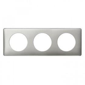LEGRAND Plaque céliane - métal - 3 postes - alu snake 068723 LEGRAND 068723