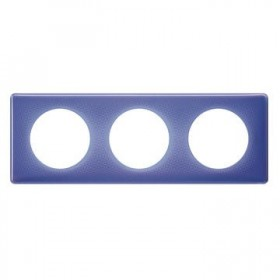 LEGRAND Plaque céliane 3 postes - finition 90's ( violet ) 066663 LEGRAND 066663