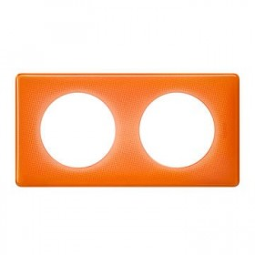 LEGRAND Plaque céliane 2 postes -finition 70's ( orange ) 066652 LEGRAND 066652