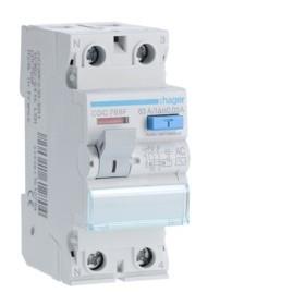 HAGER Interrupteur Differentiel 2 Pôles 63A 30mA AC CDC768F
