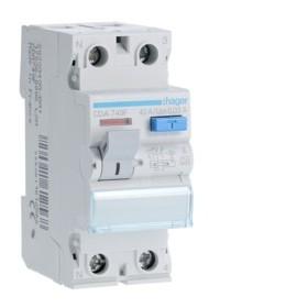 HAGER Interrupteur Differentiel 2 Pôles 40A 30mA A CDA749F
