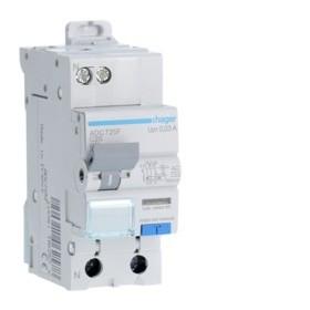 HAGER Disjoncteur Differentiel Phase / Neutre 3kA C-25A 30mA AC ADC725F