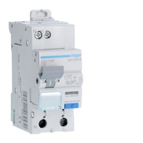 HAGER Disjoncteur Differentiel Phase / Neutre 3kA C-10A 30mA AC ADC710F