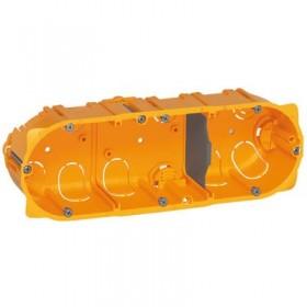 LEGRAND Boitier batibox cloison sèche 3 postes profondeur 50mm 080053