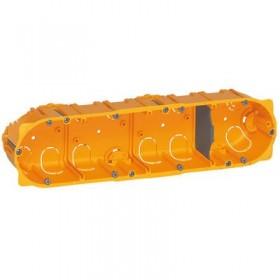 LEGRAND Boitier batibox cloison sèche 4 postes profondeur 40mm 080044