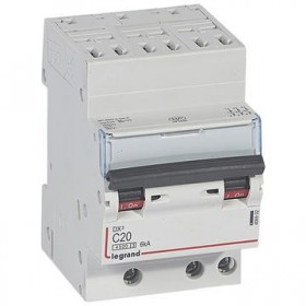 LEGRAND Disjoncteur DX3 3 pôles Courbes C 20 4500A/6KA automatique LEGRAND 406902 406902