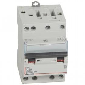 LEGRAND Disjoncteur DX3 4 Pôles courbe C 20 4500A/6KA 3 modules LEGRAND 406911 406911
