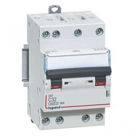 LEGRAND Disjoncteur DX3 4 Pôles courbe C 32 4500A/6KA 3 modules LEGRAND 406913 406913