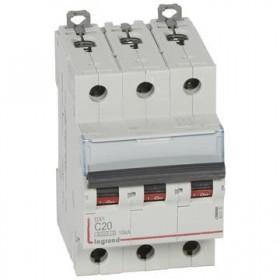LEGRAND Disjoncteur DX3 3 pôles Courbes C 20 6000A/10KA LEGRAND 407830 407830