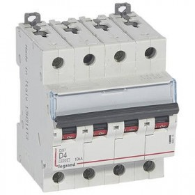 LEGRAND Disjoncteur DX3 4 Pôles D4 6000A/10KA LEGRAND 408114 408114