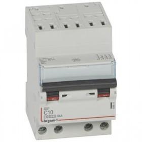 LEGRAND Disjoncteur DX3 4 Pôles courbe C 10 4500A/6KA automatique LEGRAND 406917 406917