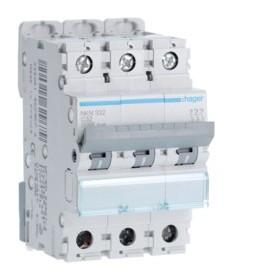 HAGER Disjoncteur 3 Pôles 10-15kA Courbe C 32A 3 Modules NKN332 HAGER NKN332