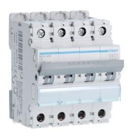 HAGER Disjoncteur 4 Pôles 10-15kA Courbe C 6A 4 Modules NKN406 HAGER NKN406
