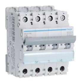 HAGER Disjoncteur 4 Pôles 10-15kA Courbe C 16A 4 Modules NKN416 HAGER NKN416