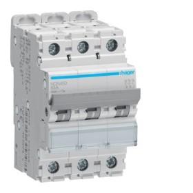 HAGER Disjoncteur 4 Pôles 15kA Courbe B 50A 4 Modules NQN450 HAGER NQN450