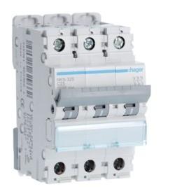 HAGER Disjoncteur 3 Pôles 10-15kA Courbe C 25A 3 Modules NKN325 HAGER NKN325