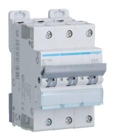 HAGER Disjoncteur 3 Pôles 6-10kA Courbe C 6A 3 Modules NFT306 HAGER NFT306