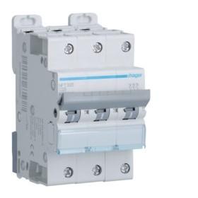 HAGER Disjoncteur 3 Pôles 6-10kA Courbe C 25A 3 Modules NFT325 HAGER NFT325