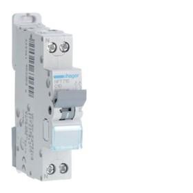 HAGER Disjoncteur Phase / Neutre 6-10kA Courbe C-10A 1 Module NFT710 HAGER NFT710