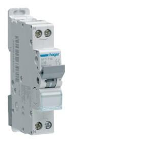 HAGER Disjoncteur Phase / Neutre 6-10kA Courbe C-16A 1 Module NFT716 HAGER NFT716